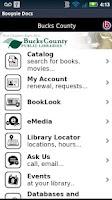Screenshot of buckslib.org Mobile