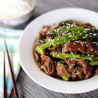 Beef and Asparagus Stir Fry.