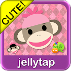 Sock Monkey Pink SMS Theme icon