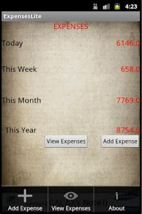 Expenses Lite - screenshot thumbnail