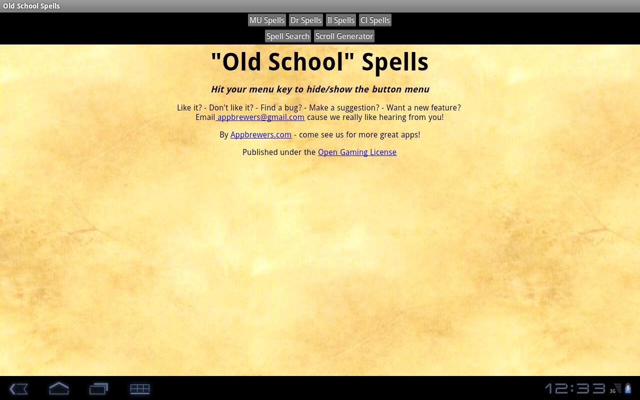 Old School Spells- screenshot