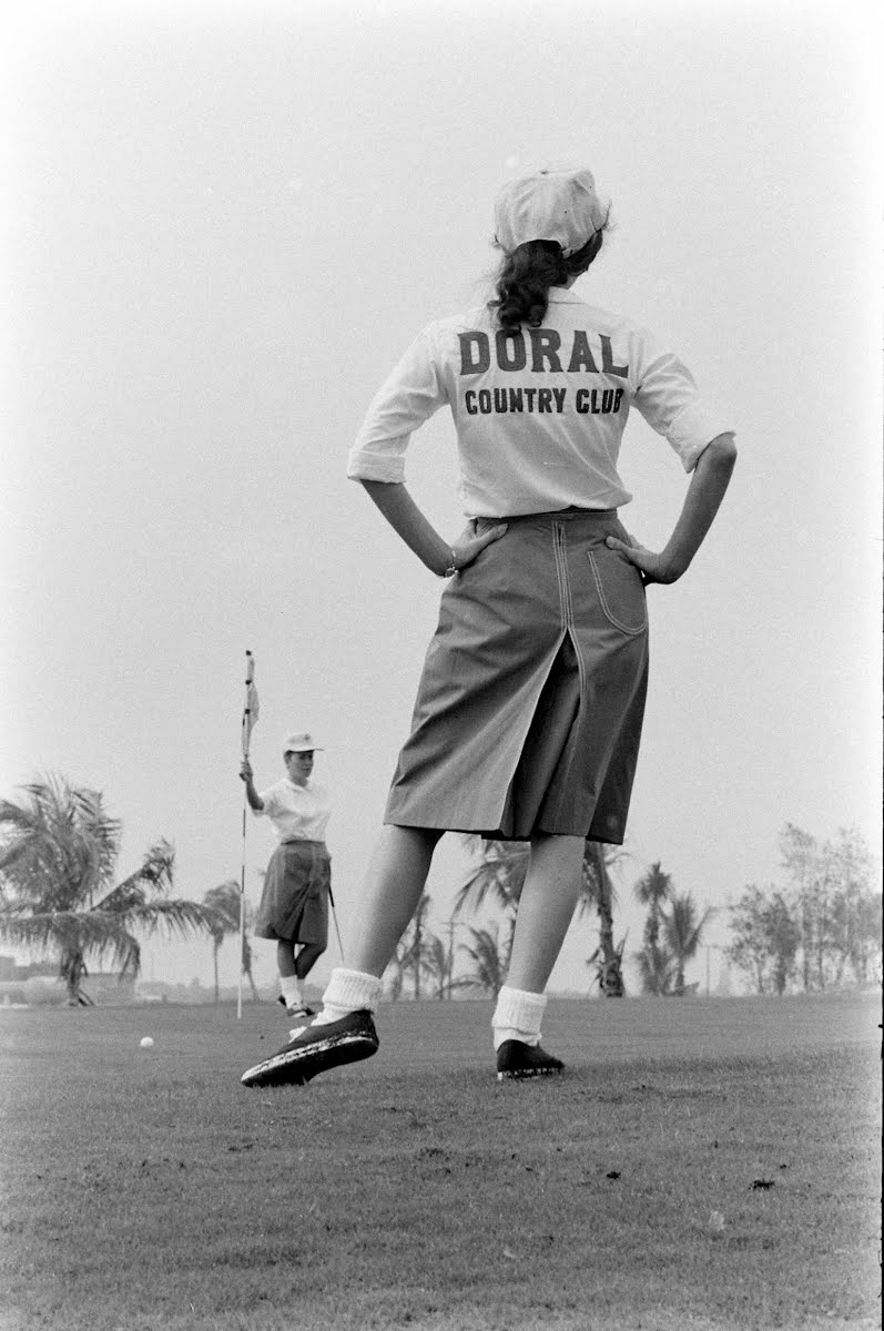 Girl Caddies At Doral
