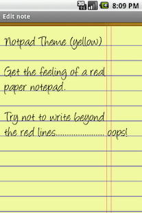 Notepad Theme