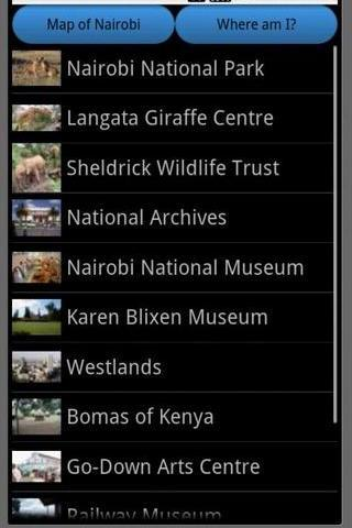 Nairobi Travel Guide Map