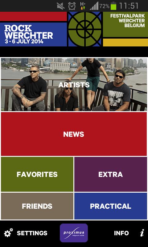 Rock Werchter 2014 - screenshot