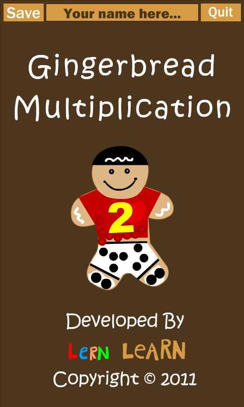 Gingerbread Multiplication- screenshot