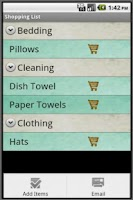 Screenshot of Camping Checklist