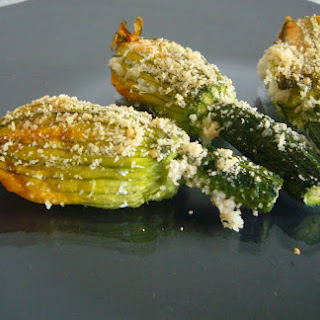 Zucchini Flowers with Ricotta Cheese.
