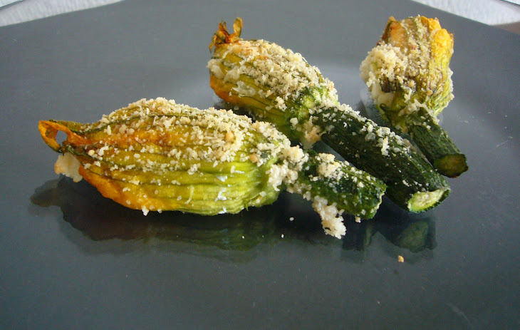 Zucchini Flowers with Ricotta Cheese