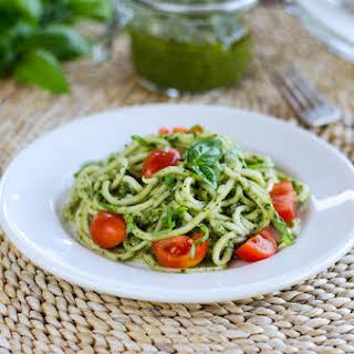 Zucchini Pasta Pesto.