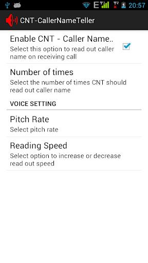 CNT-Caller Name Teller