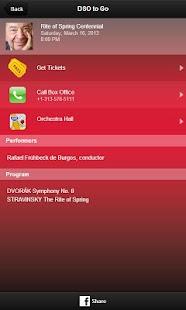Detroit Symphony Orchestra screenshot