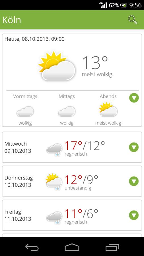 wetter.de - screenshot