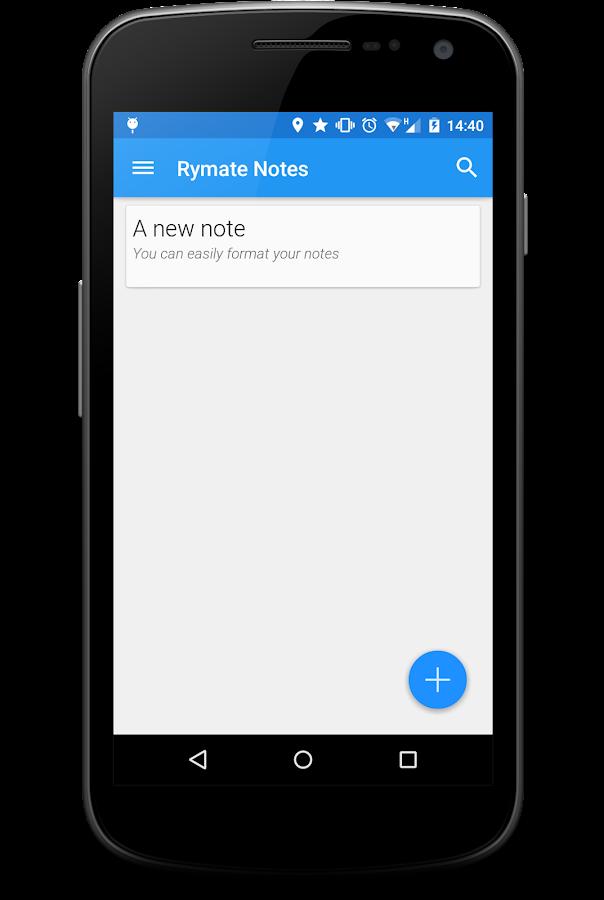 Rymate Notes - screenshot