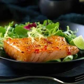 Chili Glazed Salmon.