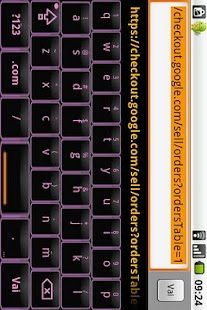 Black & Pink Keyboard Skin - screenshot thumbnail