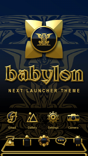 Next Launcher Theme Babylon