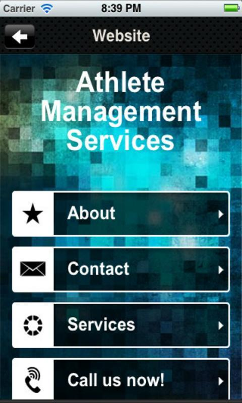 Athlete Management Services - screenshot