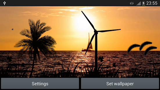 sunset windmill live wallpaper apps on google play
