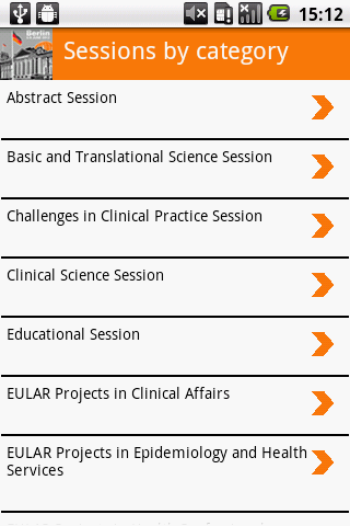 EULAR 2012 - screenshot
