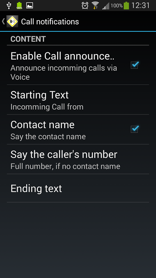 Voice Notifier- screenshot