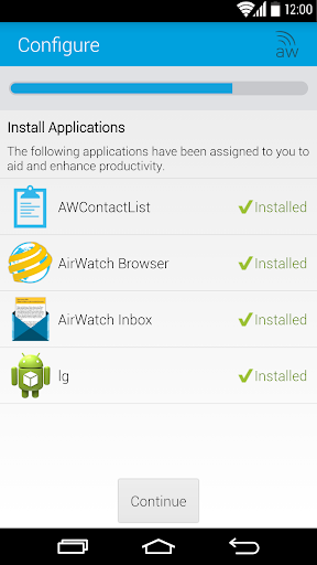AirWatch Agent Screenshot