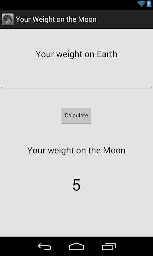 Your Weight on the Moon