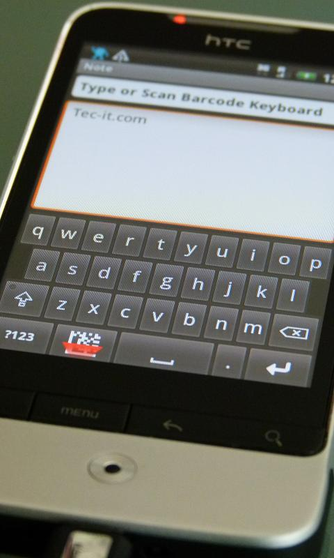Barcodescanner Keyboard - screenshot