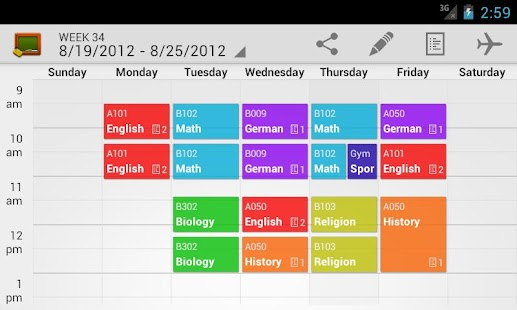 My Class Schedule (donation) - screenshot thumbnail