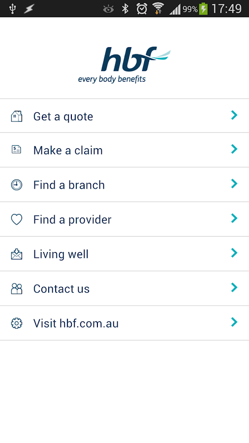 HBF Health- screenshot