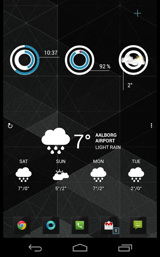CirclClocks uccw skin - screenshot