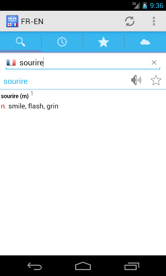 French-English Dictionary- screenshot