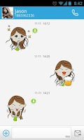 Screenshot of GO SMS Pro MissMay Sticker