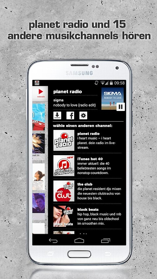planet radio- screenshot