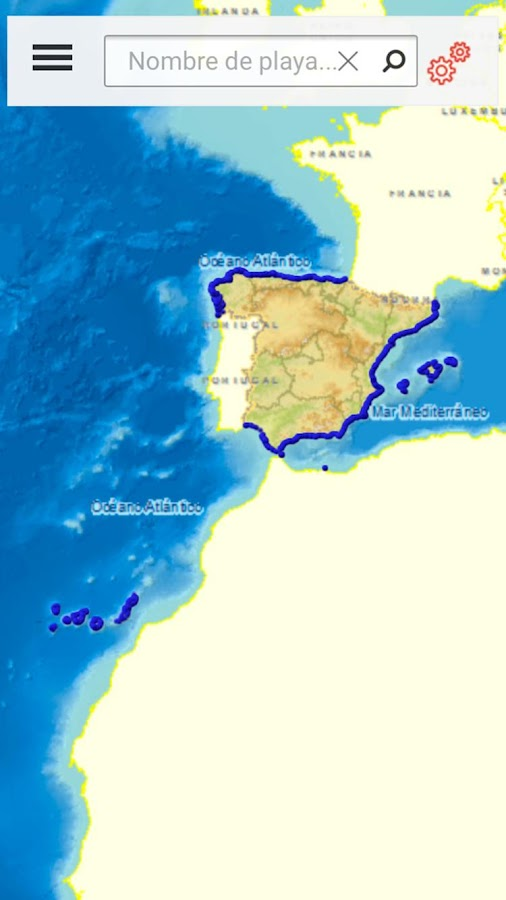 Guía de Playas - MAGRAMA- screenshot