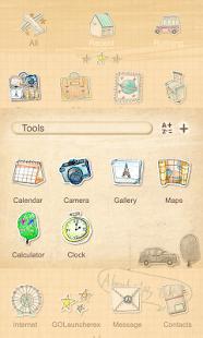 Parisien - GO Launcher Theme - screenshot thumbnail