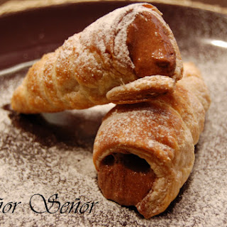 Chocolate Mousse-filled Puff Pastry Knots.