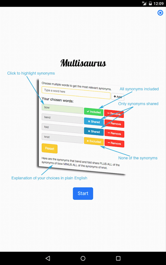 Multisaurus - Multi Thesaurus- screenshot