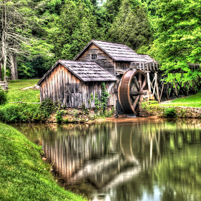 Mabry Mill by Steven Faucette - Buildings & Architecture Public & Historical ( water, mill, mabry, grist, mountains, virginia, blue ridge pariway, historic )