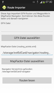 Route-Importer for MapFactor- screenshot thumbnail