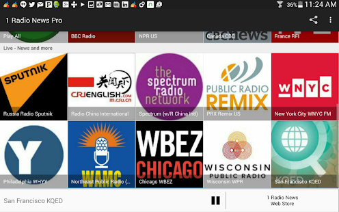 1 Radio News Pro: More Features and Shows, No Ads Screenshot