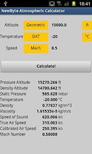 Atmospheric Calculator Free - screenshot thumbnail