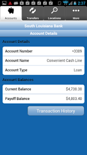 South Louisiana Bank Mobiliti - screenshot thumbnail