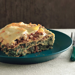 Lasagne Bolognese with Spinach.