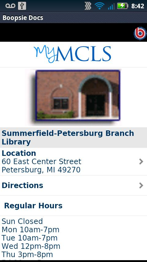 Monroe County Library System- screenshot