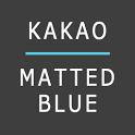 카카오톡 테마 MattedBlue icon