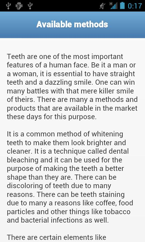 Teeth Whitening Tips - screenshot