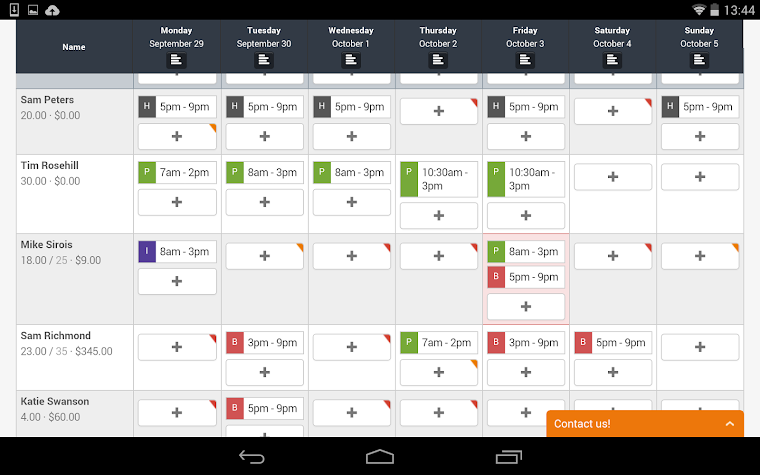 7shifts Employee Scheduling Screenshot