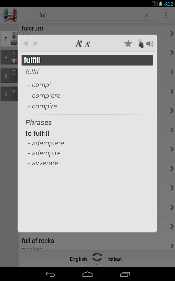 Free Dict Italian English- screenshot