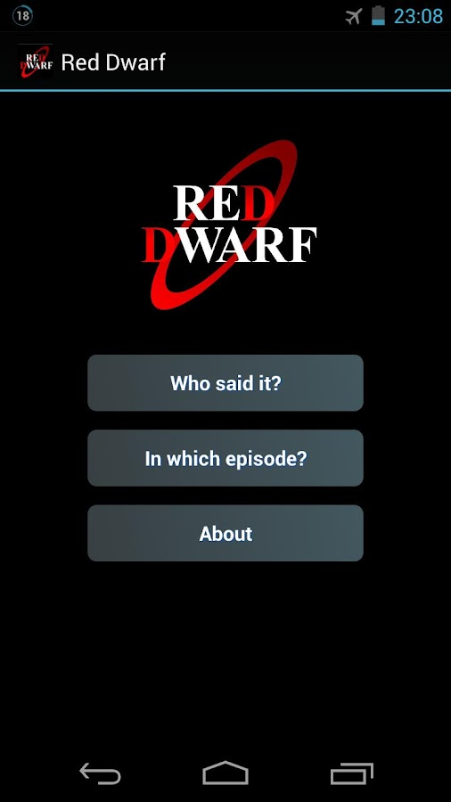 Red Dwarf Quiz - screenshot